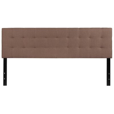 Fitzgibbon Bedford Tufted Upholstered Panel Headboard Size: King, Upholstery: Camel
