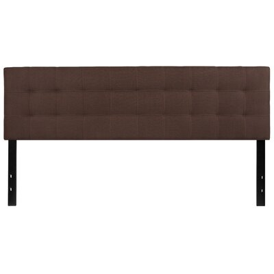 Fitzgibbon Bedford Tufted Upholstered Panel Headboard Size: King, Upholstery: Dark Brown