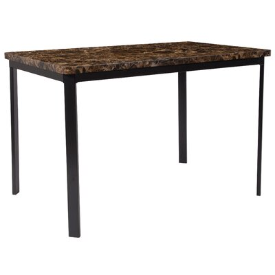 Miles Dining Table Top Color: Espresso Marble
