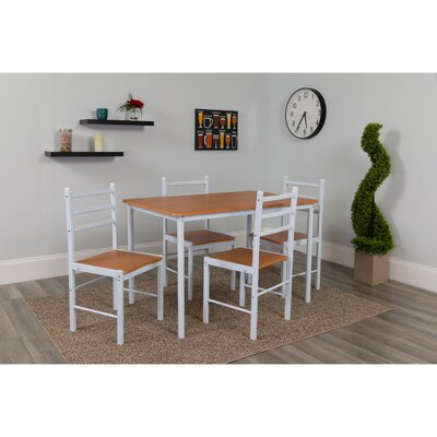 Milford High Bridge 5 Piece Dining Set