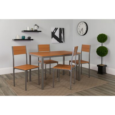 Patterson 5 Piece Dining Set Color: Cherry