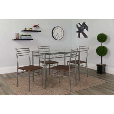 Pearcy 5 Piece Dining Set