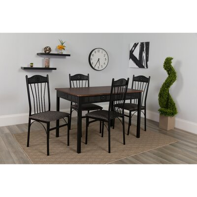 Millikin Square 5 Piece Dining Set