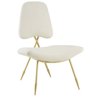Haller Side Chair Upholstery: Ivory