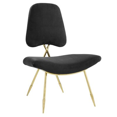 Haller Side Chair Upholstery: Black