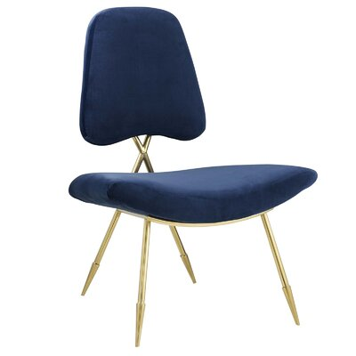 Haller Side Chair Upholstery: Navy