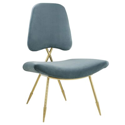 Haller Side Chair Upholstery: Sea
