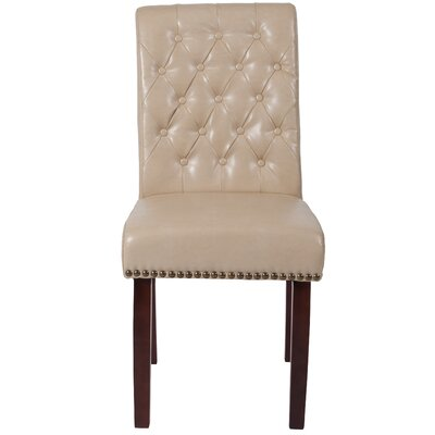 Fransen Upholstered Dining Chair Upholstery Color: Beige