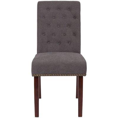 Fransen Upholstered Dining Chair Upholstery Color: Dark Gray