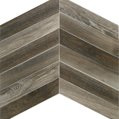 Arrow 3.15 x 16 Porcelain Mosaic Tile in Dark