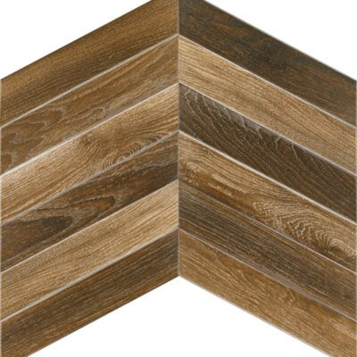 Arrow 3.15 x 16 Porcelain Mosaic Tile in Oak