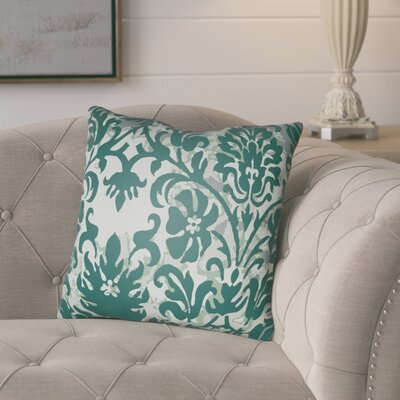 Amiyah Throw Pillow Size: 18 H x 18 W x 4 D, Color: Green