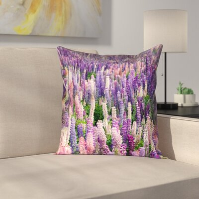 Joyeta Lavender Field Square Pillow Cover Size: 14 x 14