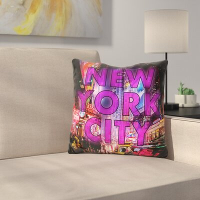 New York City Color Throw Pillow