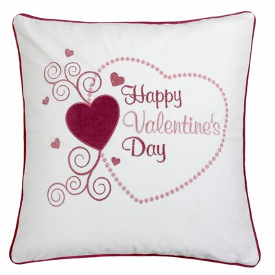 Duplantis Valentines Day Embroidery Velvet Throw Pillow (Set of 2)