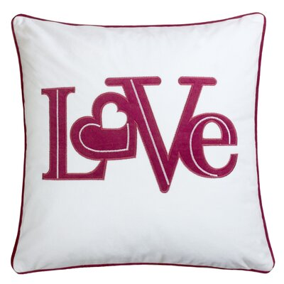 Duplantis Applique Velvet Throw Pillow