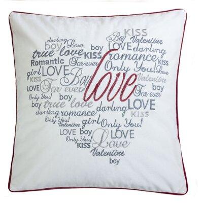 Duplantis Valentine Day Embroidery Velvet Throw Pillow