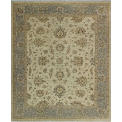 One-of-a-Kind Dundermot Hand-Knotted Wool Ivory Area Rug
