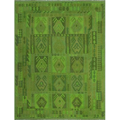One-of-a-Kind Dinardo Hand-Woven Wool Green Area Rug
