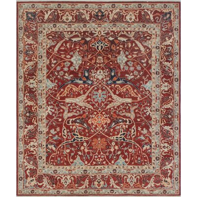 One-of-a-Kind Keel Hand-Knotted Wool Red/Rust Area Rug