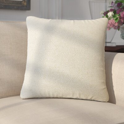Merlyn Solid Throw Pillow Color: Creme