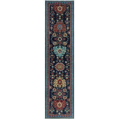 One-of-a-Kind Keel Hand-Knotted Wool Blue Area Rug