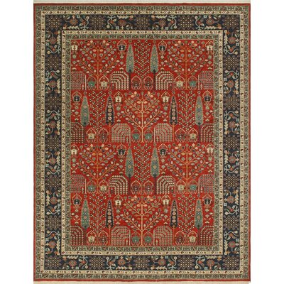 One-of-a-Kind Keel Hand-Knotted Wool Red Area Rug