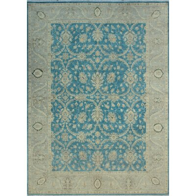 One-of-a-Kind Dundermot Hand Knotted Wool Blue/Gray Area Rug