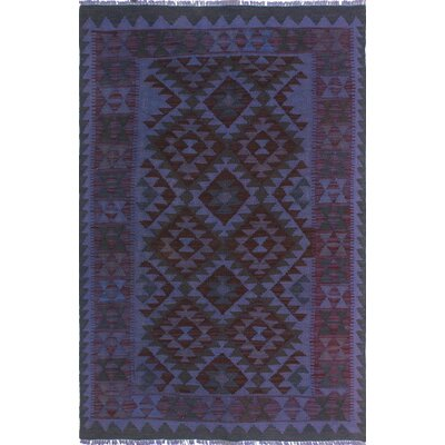 One-of-a-Kind Dinardo Hand-Woven Wool Purple Area Rug