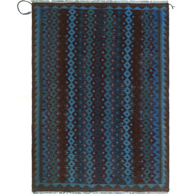 One-of-a-Kind Dinardo Hand-Woven Wool Burgundy Area Rug