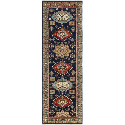One-of-a-Kind Keel Hand-Knotted Wool Blue/Beige Area Rug