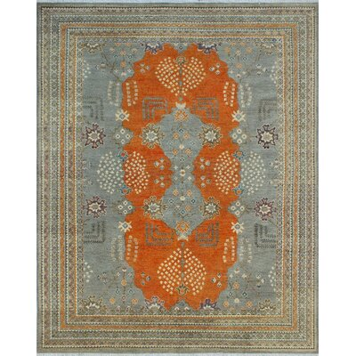 One-of-a-Kind Keel Hand Knotted Wool Gray Area Rug
