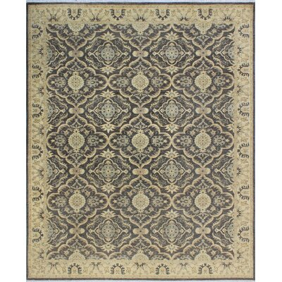 One-of-a-Kind Dundermot Hand Knotted Wool Gray/Beige Area Rug