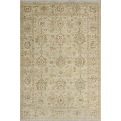 One-of-a-Kind Keel Hand-Knotted Wool Ivory Area Rug