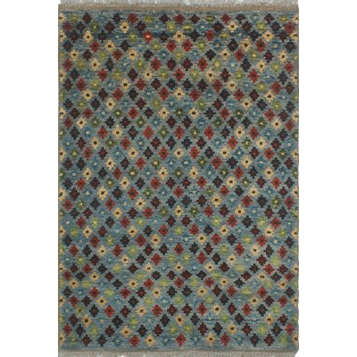 One-of-a-Kind Priston Hand-Knotted Wool Blue/Gray Area Rug