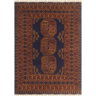 One-of-a-Kind Kappel Hand-Knotted Wool Blue/Brown Area Rug