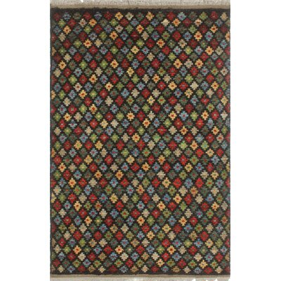 One-of-a-Kind Priston Hand-Knotted Wool Black Area Rug