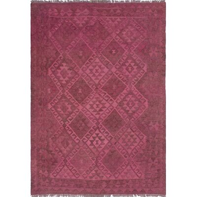 One-of-a-Kind Dinardo Hand-Woven Wool Pink Area Rug