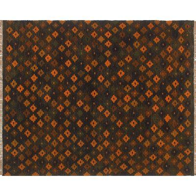 One-of-a-Kind Rauscher Hand-Woven Wool Orange/Brown Area Rug