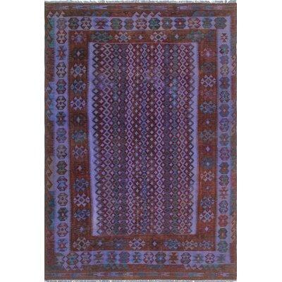 One-of-a-Kind Dinardo Hand-Woven Wool Purple Area Rug