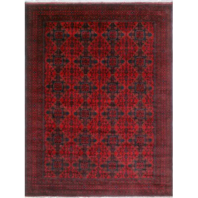 One-of-a-Kind Kappel Hand-Knotted Wool Red Area Rug