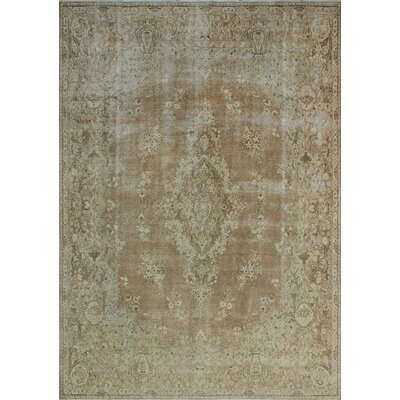 One-of-a-Kind Kappel Distressed Hand-Knotted Wool Brown Area Rug