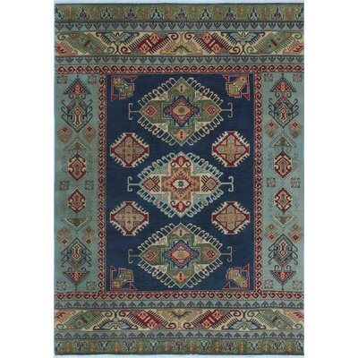 One-of-a-Kind Priston Hand-Knotted Wool Blue Area Rug