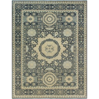 One-of-a-Kind Pickard Hand-Knotted Wool Blue/Beige Area Rug
