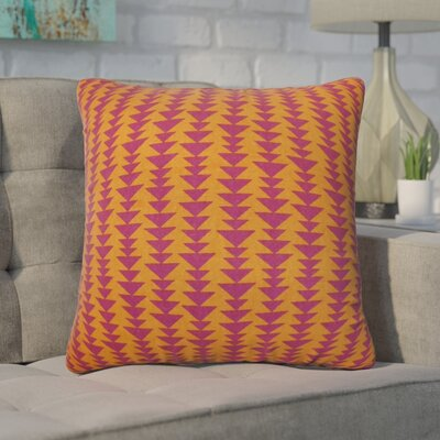 Duerr Geometric Cotton Throw Pillow Cover Size: 18 x 18, Color: Mango