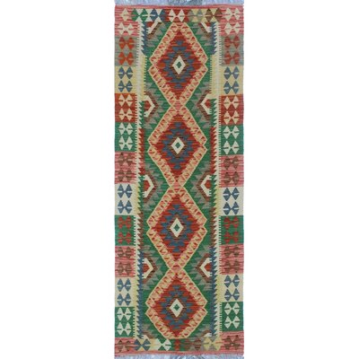 One-of-a-Kind Priston Hand-Woven Wool Beige/Green Area Rug