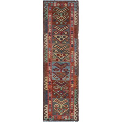 One-of-a-Kind Priston Hand-Woven Wool Brown Area Rug
