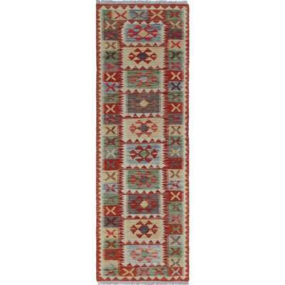 One-of-a-Kind Mixon Hand-Woven Wool Rust/Beige Area Rug
