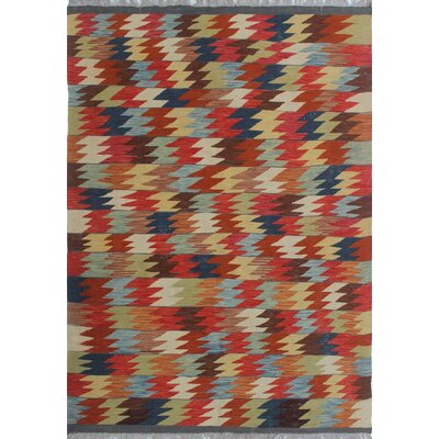 One-of-a-Kind Priston Hand-Woven Wool Red/Brown Area Rug
