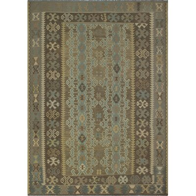 One-of-a-Kind Priston Hand-Woven Wool Beige/Brown Area Rug